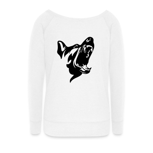 German Shepherd Dog Head - Women's Wideneck Sweatshirt