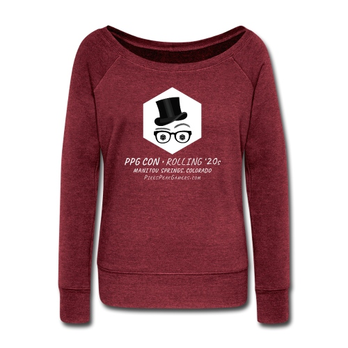 Pikes Peak Gamers Convention 2020 - Women's Wideneck Sweatshirt