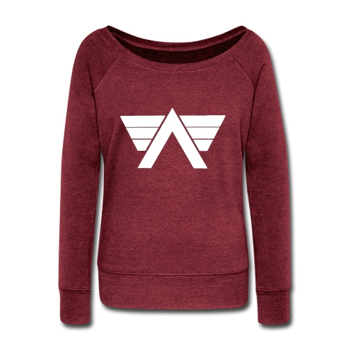 Bordeaux Sweater White AeRo Logo - Women's Wideneck Sweatshirt