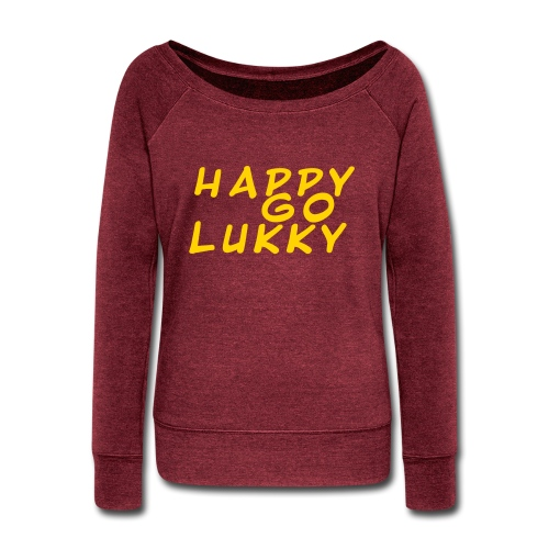 HGL Plain letter design yellow - Women's Wideneck Sweatshirt