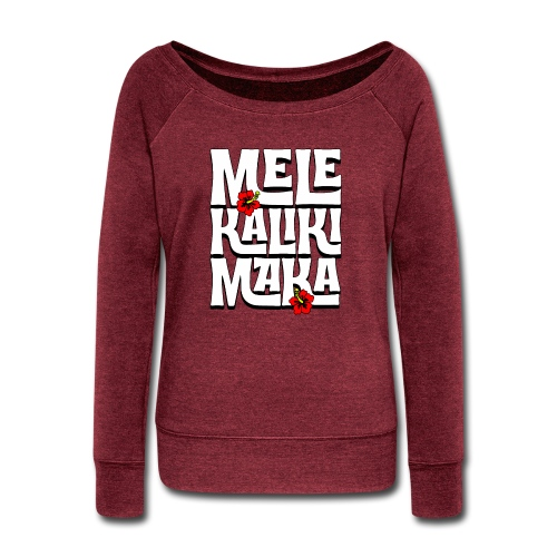 Mele Kalikimaka Hawaiian Christmas Song - Women's Wideneck Sweatshirt