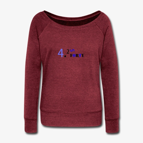 Logo 2 - Women's Wideneck Sweatshirt