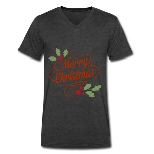 Merry Christmas - Men's V-Neck T-Shirt by Canvas