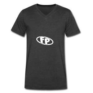 Secondary FRESHPOPCORN Logo - Men's V-Neck T-Shirt by Canvas