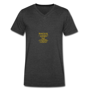 tshirt_pilotVersion_nologo_gold - Men's V-Neck T-Shirt by Canvas