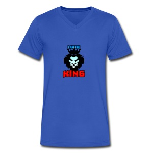 I am the King Logo - Men's V-Neck T-Shirt by Canvas