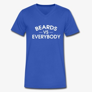 Beards VS Everyone - Men's V-Neck T-Shirt by Canvas