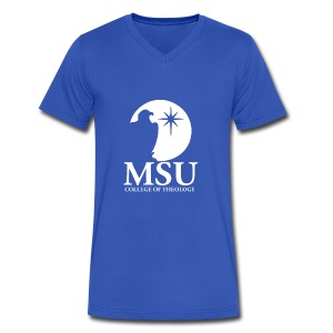 MorningStar College Theology - Men's V-Neck T-Shirt by Canvas