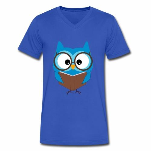 Hello I'm the study owl - Men's V-Neck T-Shirt by Canvas