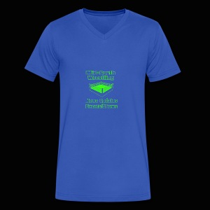 Mid-South Wrestling News Neon/Lime Green - Men's V-Neck T-Shirt by Canvas
