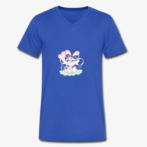 Cute lil bunny - Men's V-Neck T-Shirt by Canvas