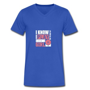 I Know I Play Like A Girl: Try To Keep Up T Shirt - Men's V-Neck T-Shirt by Canvas