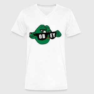 Pepe the Frog Sunglasses Obey - Men's V-Neck T-Shirt by Canvas
