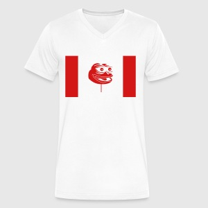 Canadian Pepe Flag - Men's V-Neck T-Shirt by Canvas