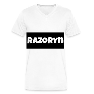 Razoryn Plain Shirt - Men's V-Neck T-Shirt by Canvas