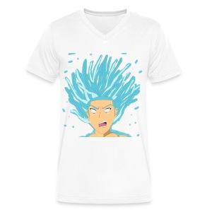 JKEYE inDEPTH SSJ BLUE - Men's V-Neck T-Shirt by Canvas