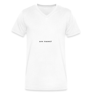 Love Yourself - Men's V-Neck T-Shirt by Canvas