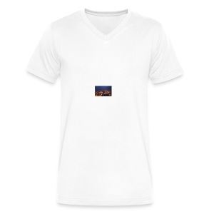 300px-Downtown_Binghamton_at_Night - Men's V-Neck T-Shirt by Canvas