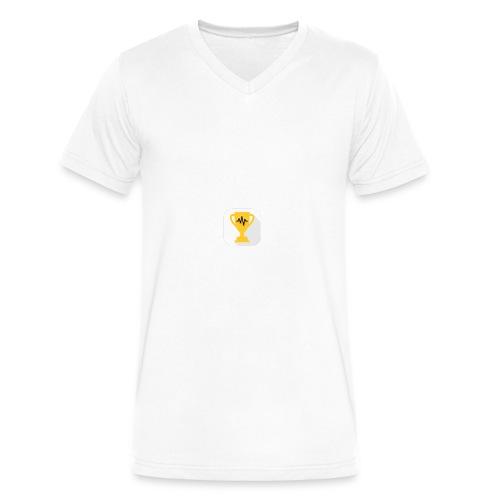 Listenin Logo Shirt - Men's V-Neck T-Shirt by Canvas