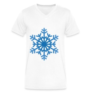 http-images-clipartpanda-com-snowflake-clipart-tra - Men's V-Neck T-Shirt by Canvas