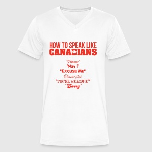 How to Speak Like Canadians - Men's V-Neck T-Shirt by Canvas