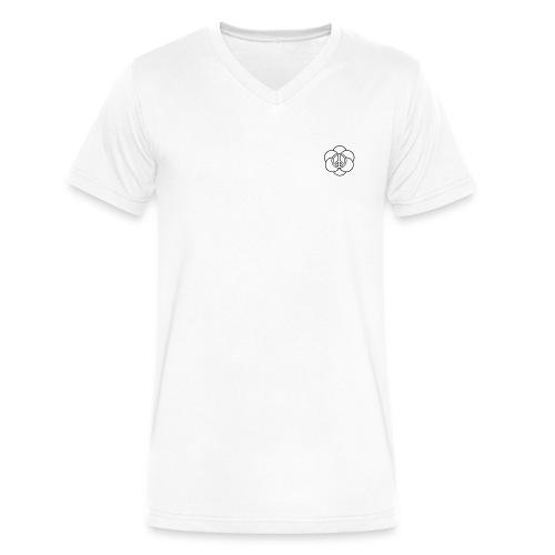 peace flower - Men's V-Neck T-Shirt by Canvas