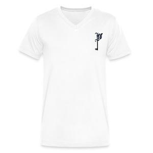 keylogonavy - Men's V-Neck T-Shirt by Canvas