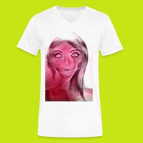 Rose girl - Men's V-Neck T-Shirt by Canvas