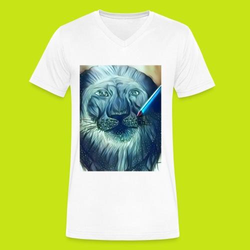 Blue lion - Men's V-Neck T-Shirt by Canvas