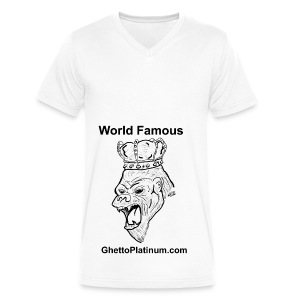 T-shirt-worldfamousForilla2tight - Men's V-Neck T-Shirt by Canvas