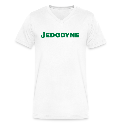 JEDODYNE CLASSIC GREEN TEXT - Men's V-Neck T-Shirt by Canvas