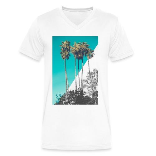 Blue Palms - Men's V-Neck T-Shirt by Canvas