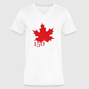 Canada 150 - Maple Leaf - Men's V-Neck T-Shirt by Canvas
