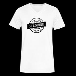 Super Plumber - Men's V-Neck T-Shirt by Canvas