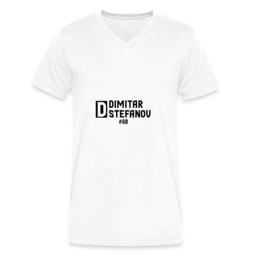 Dimitar Stefanov #68 Logo Design - Men's V-Neck T-Shirt by Canvas