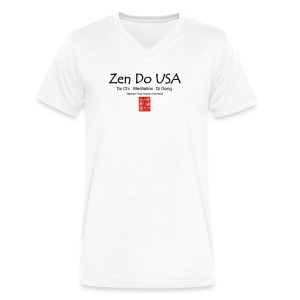 Zen Do USA logo and cell phone clothing busshist - Men's V-Neck T-Shirt by Canvas