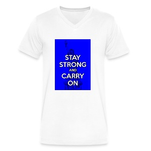 Stay Strong and Carry On - Men's V-Neck T-Shirt by Canvas