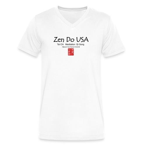 Zen Do USA - Men's V-Neck T-Shirt by Canvas