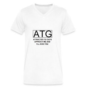 ATG Attracted to gays - Men's V-Neck T-Shirt by Canvas