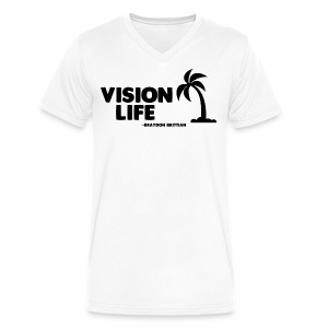 Vision Life Limited Edition Summer Tee - Men's V-Neck T-Shirt by Canvas