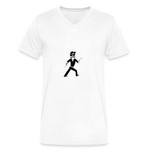 The Famous Mr Warrior - Men's V-Neck T-Shirt by Canvas