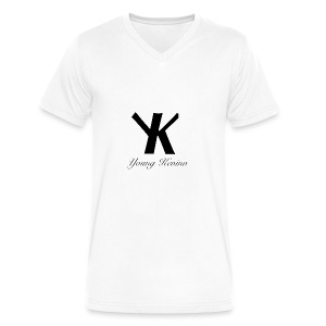 Young Kevino Official Logo (Black) - Men's V-Neck T-Shirt by Canvas