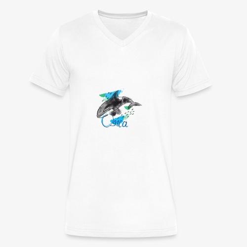 Orca / Killer Whale - Men's V-Neck T-Shirt by Canvas