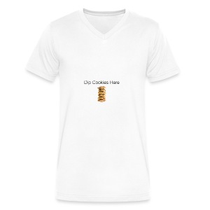 Dip Cookies Here mug - Men's V-Neck T-Shirt by Canvas