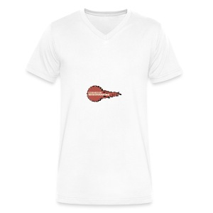 Fireball Saw Logo - Men's V-Neck T-Shirt by Canvas