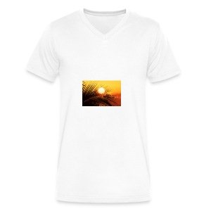 beautiful jamaica - Men's V-Neck T-Shirt by Canvas