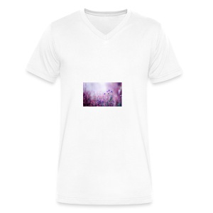 Life's field of flowers - Men's V-Neck T-Shirt by Canvas