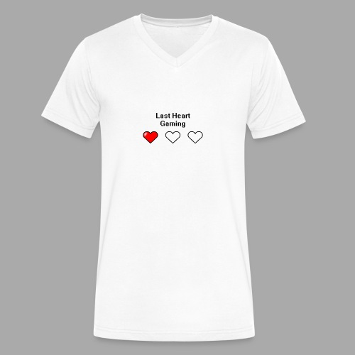 Last Heart Gaming Logo - Men's V-Neck T-Shirt by Canvas