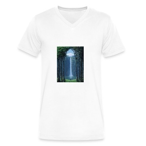 Waterfall lake - Men's V-Neck T-Shirt by Canvas