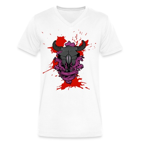Buffalo Blood - Men's V-Neck T-Shirt by Canvas